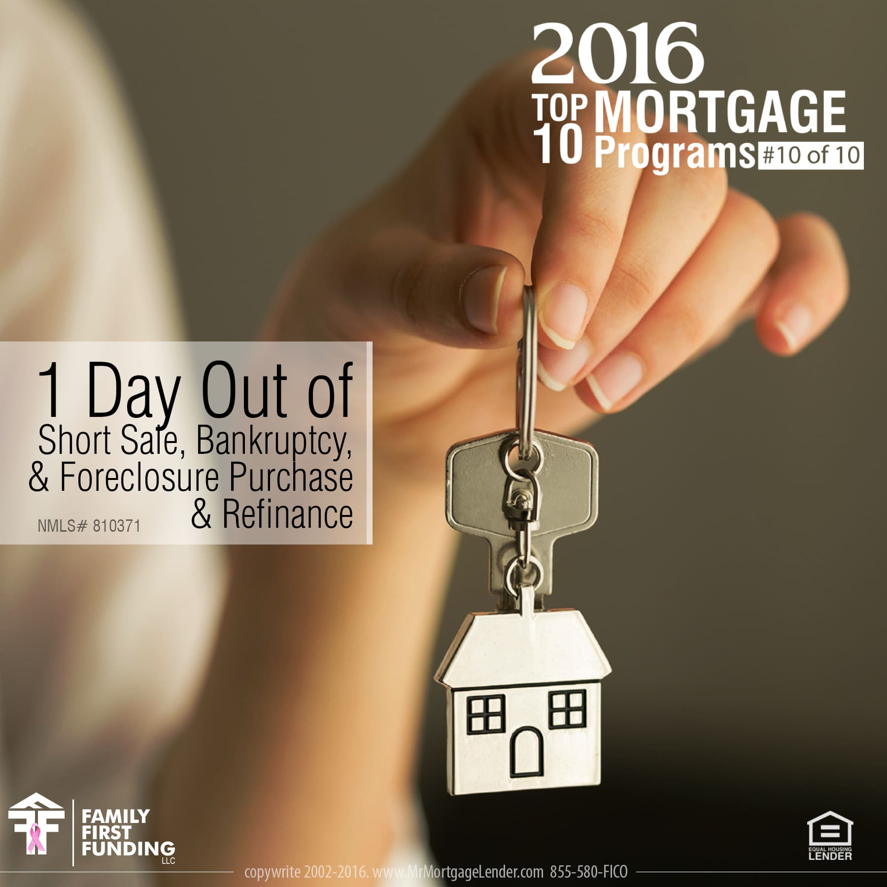 10. 1 Day Out of Short Sale, Bankruptcy, & Foreclosure Purchase & Refinance