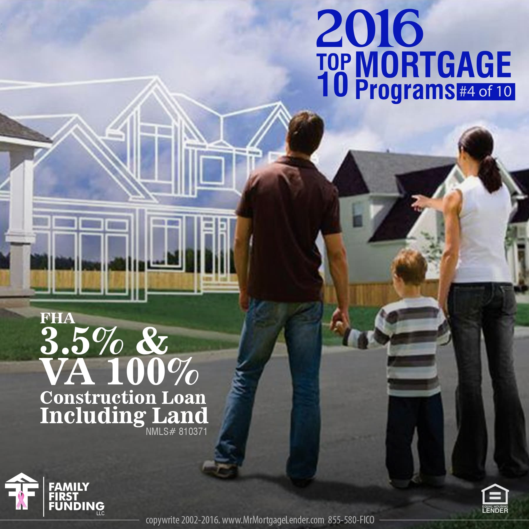 4. FHA 3.5 and VA 100 Construction Loan Including Land