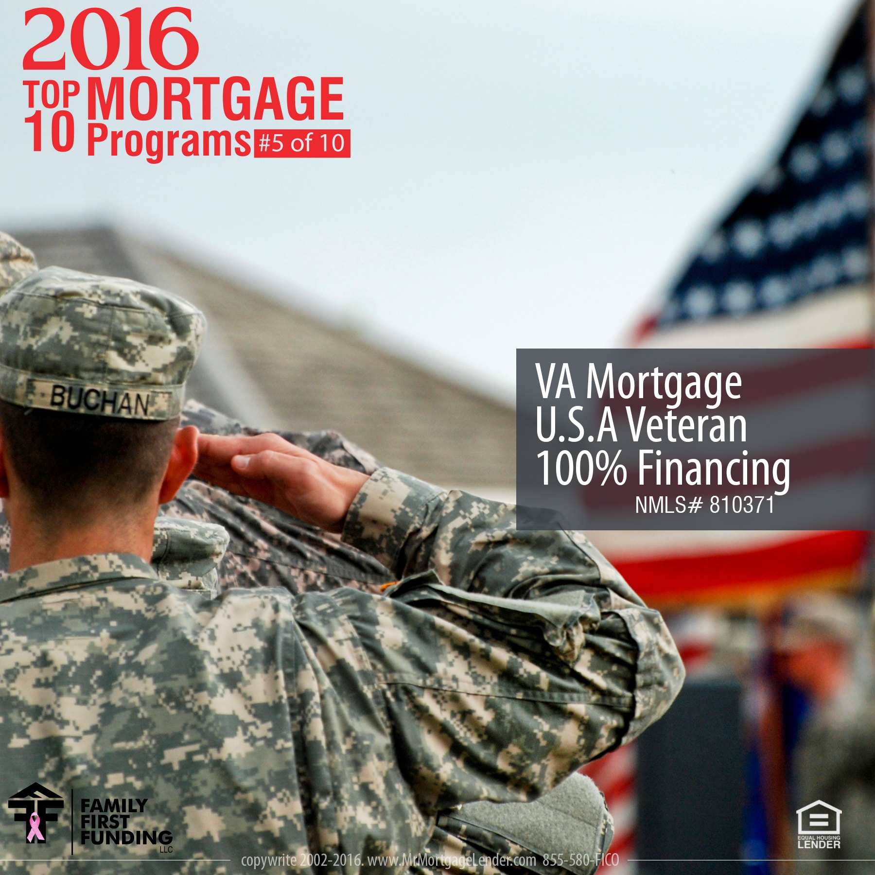 5. VA Mortgage U.S.A Veteran 100% Financing